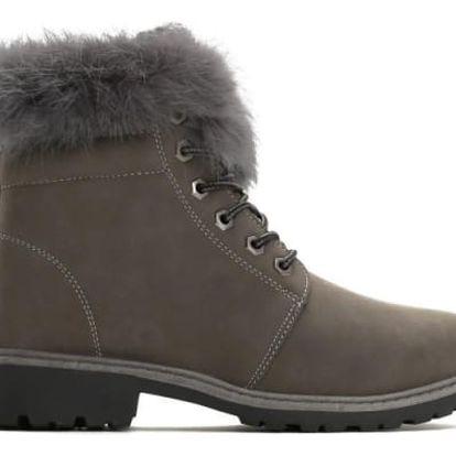 Dámské šedé kotníkové boty Lio 6190