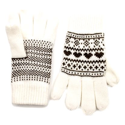 N-Feel Dámské rukavice Love norský vzor