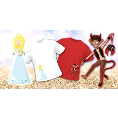 Mikulášská trička pro malé andílky a ďáblíky