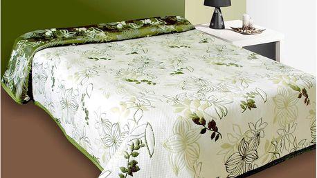 Forbyt Přehoz na postel Lisbon zelený, 140 x 220 cm