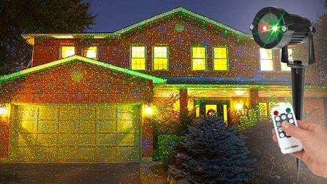Vánoční vnitří i venkovní laserové osvětlení