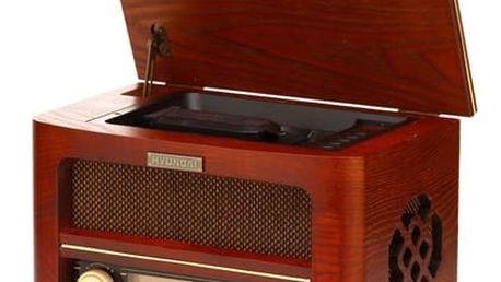 Radiopřijímač s CD Hyundai Retro RC606 RETRO dřevo + DOPRAVA ZDARMA