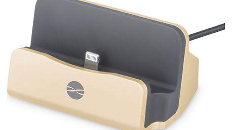 Nabíjecí stojánek Forever DS-01 pro Apple iPhone 5/6 (ATCAPIP5DSTFGO) zlatý
