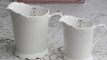 Chic Antique Džbánek Provence 1000 ml, bílá barva, keramika