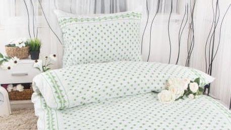 XPOSE ® Prodloužené bavlněné povlečení EMA - zelená 140x220, 70x90