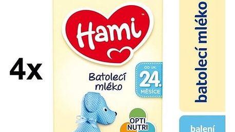 Kojenecké mléko Hami batolecí od ukončeného 24. měsíce, 600g x 4ks + Doprava zdarma