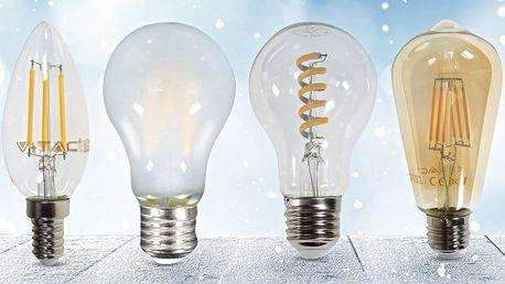 Designové úsporné LED žárovky ve stylu retro