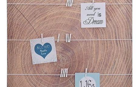 Nástěnka s kolíčky kmen stromu 45 x 45 cm