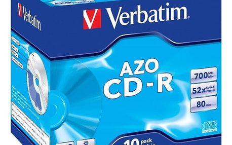 Disk Verbatim CD-R 700MB/80min, 52x, jewel box, 10ks (43327)