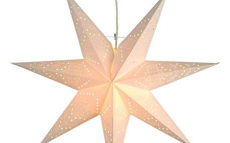 STAR TRADING Závěsná hvězda Sensy Star, bílá barva, papír