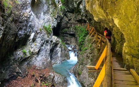 Turistika divokou Ptačí soutěskou v Rakousku