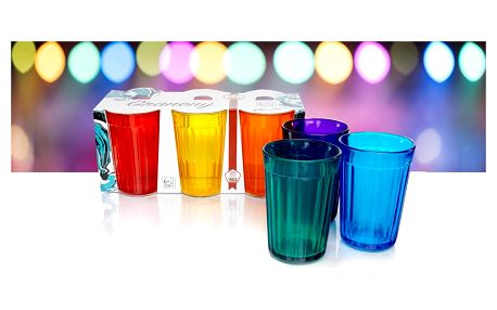 Odolné barevné nebo čiré párty skleničky Graneny
