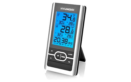 Meteorologická stanice Hyundai WS 1070 černá/stříbrná