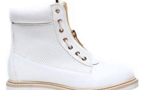 Dámské bílé kotníkové boty Sunny 2050