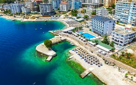 Hotel Saranda Palace****, 4* hotel s vlastní pláží, bazénem a snídaní v ceně pobytu