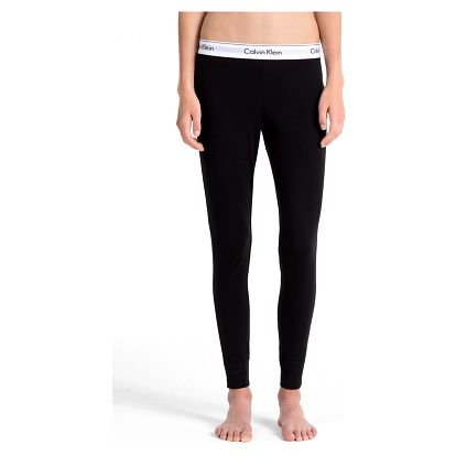 Calvin Klein černé kalhoty Legging Pant s bílou gumou