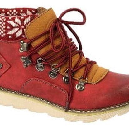 Značkové dámské kotníkové boty red