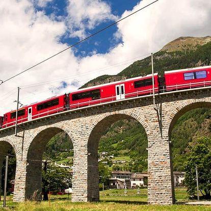 Výlet do Švýcarska a jízda panoramatickým vlakem