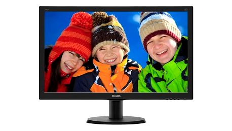 "Monitor Philips 240V5QDSB (240V5QDSB/00) černý 23,8"",LED, IPS, 5ms, 1000:1, 250cd/m2, 1920 x 1080,"