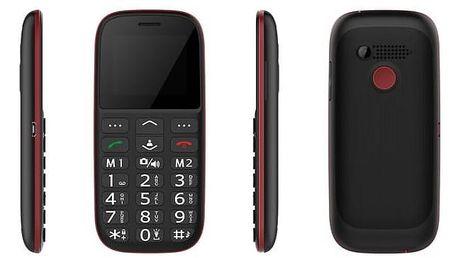 Mobilní telefon CUBE 1 F100 Dual SIM (F100) černý/červený