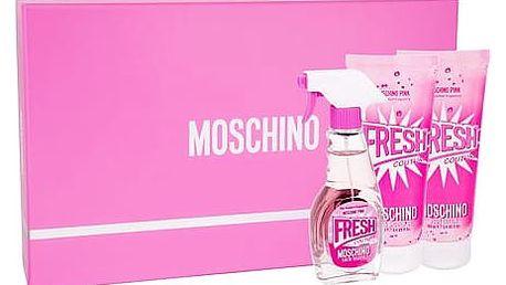 Moschino Fresh Couture Pink EDT dárková sada W - EDT 50ml + tělové mléko 100ml + sprchový gel 100ml