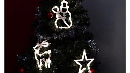 LED dekorace na okno - 3 ks - sob, sněhulák, hvězda - 18000167