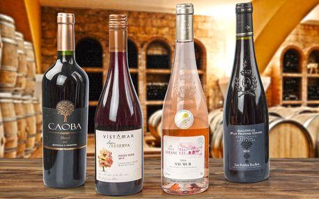 2 lahve luxusních vín z Francie či Jižní Ameriky