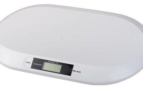 Kojenecká váha Topcom Digital BabyScale 2000, s rozlišením 10g (5411519017314) bílá
