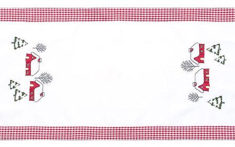 Forbyt Vánoční ubrus Chaloupky, 40 x 90 cm, 40 x 90 cm