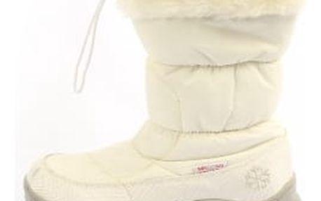 Značkové dámské sněhule s kožíškem MIKOOMI bílé