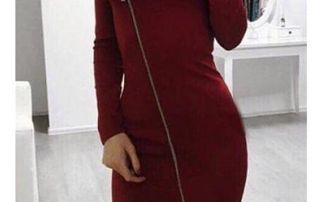 Dámské pouzdrové šaty na zip Alivia