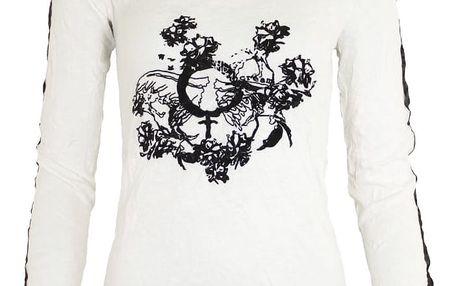 Cream Tričko Candice White sand Velikost L, bílá barva, textil
