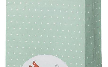 Bloomingville Papírová taška na dárky Twinkle, zelená barva, papír