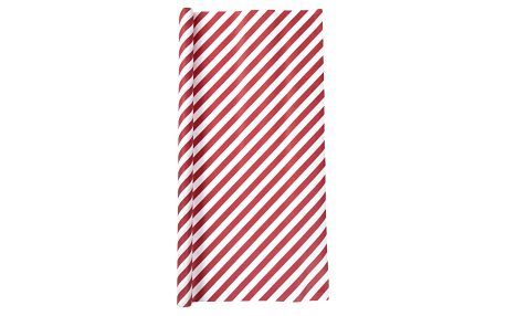 Bloomingville Balicí papír Red stripe, červená barva, papír