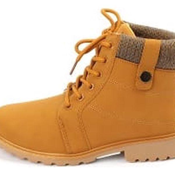 Kvalitní dámské kotníkové boty CAMEL