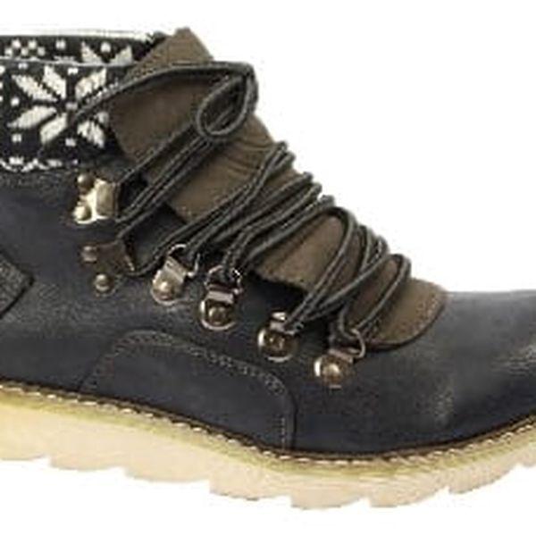 Značkové dámské kotníkové boty blue