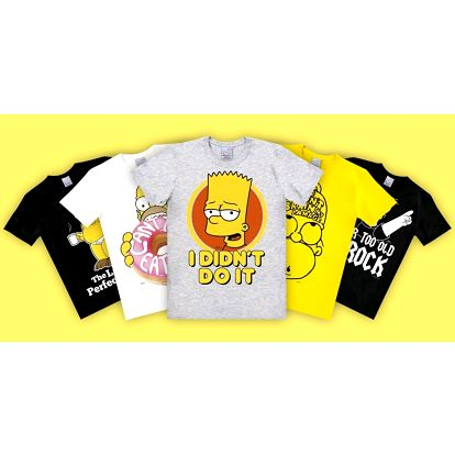 Simpsonovi: pánská trička z oficiální kolekce