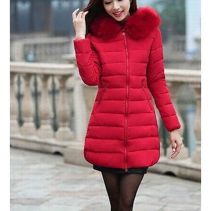 Zimní kabát s kapucí s umělým kožíškem v plus size velikostech - 9 barev