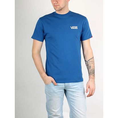 Tričko Vans Mn Left Chest Logo T True Blue Modrá