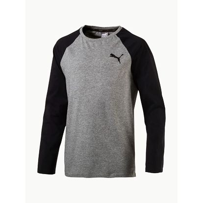 Tričko Puma Style Baseball Tee Medium Gray Heather Šedá