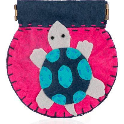 Fashion Icon Peněženka flísová ruční práce želva