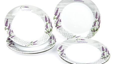 Jídelní talíř dezertní Levandule, 6 ks, 19 x 2 cm 590880