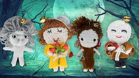 Ručně dělané panenky Minivoodoo do kapsy i na klíče