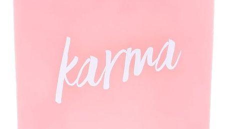 dw HOME Vonná svíčka Yoga - Karma 425gr, růžová barva, sklo, dřevo, vosk