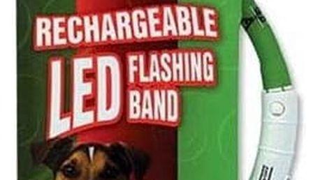 Obojek Dog Fantasy LED světelný 45cm zelený