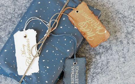 MONOGRAPH Vánoční kartičky X-mas - 6 ks, šedá barva, bílá barva, hnědá barva, multi barva, papír