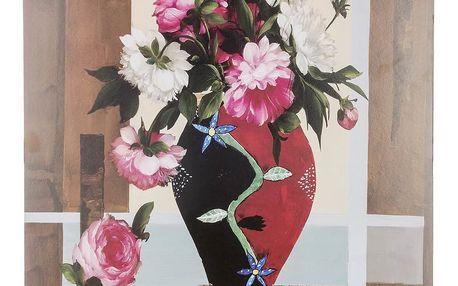 Obraz na stěnu - Váza s barevnými pivoňky