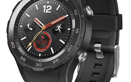 Chytré hodinky Huawei Watch 2 SIM Sport - Carbon Black (WA-WATCHW2BOM) + DOPRAVA ZDARMA