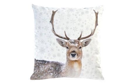 Sander Dekorační polštářek Snow deer 45 x 45 cm