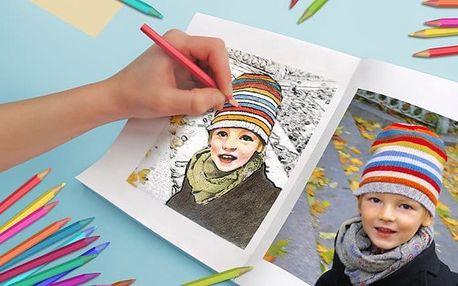 Originální omalovánky pro děti ve formátu A5 z vašich vlastních fotografií
